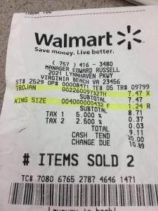 walmart price for condoms