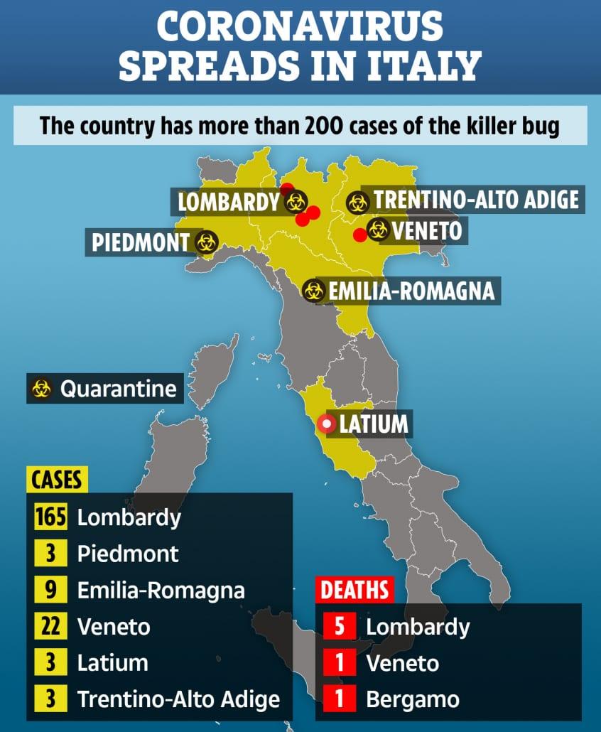 quarantine map italy